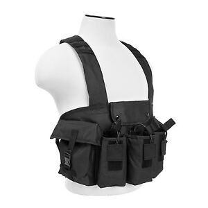 NcStar CVAKCR2921 Black Tactical Chest Rig w/3 Double Magazine Pouches