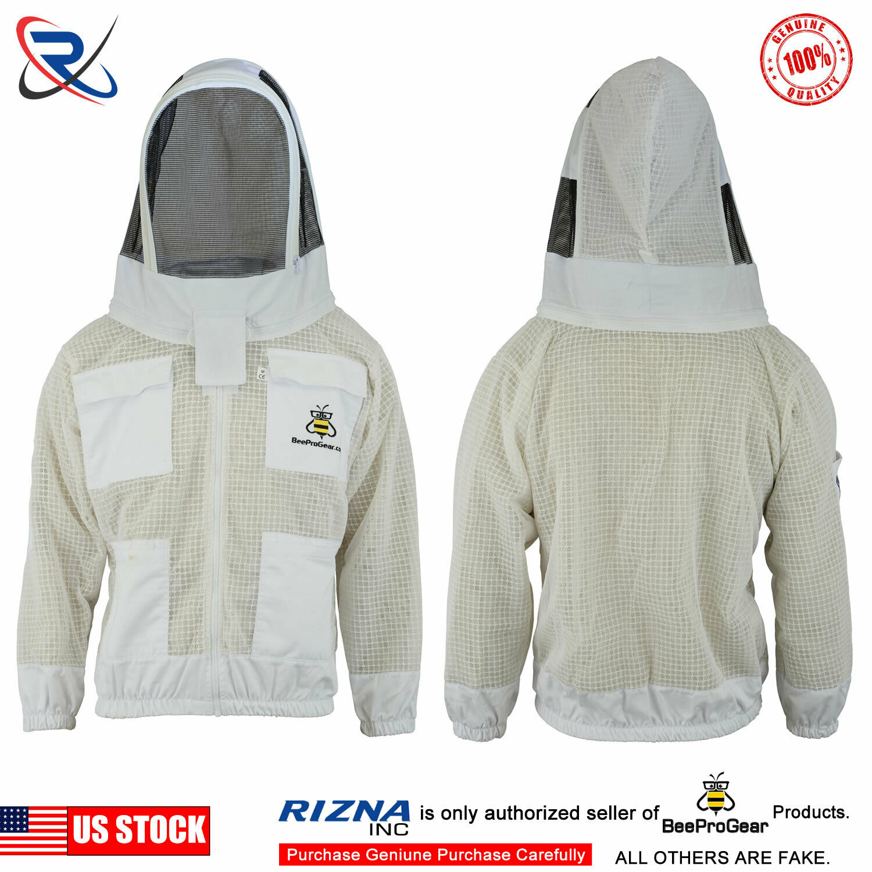 Beepro beekeeper beekeeping jacket bee protective Round veil hat hood-01
