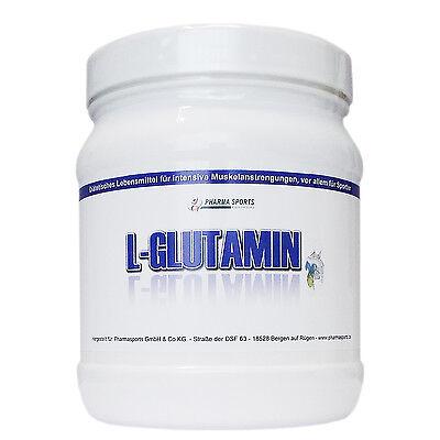 L-Glutamin Pulver 100 Prozent rein 500g Dose, Hohe Qualität, Made In Germany  - Reines Glutamin Pulver