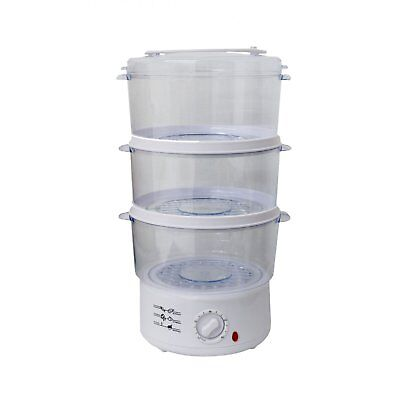 NEW! 3 Layer 7.5L Compact Electric Food Steamer Steam Cooker