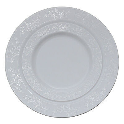 Heavy Plastic Dinner Plates (40 Disposable Heavy Plastic Dinnerware Plate, Dinner/Dessert Plate for Wedding)