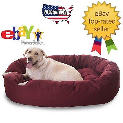 BURGANDY - Donut Bagel Animal Pet Dog Bed - 52