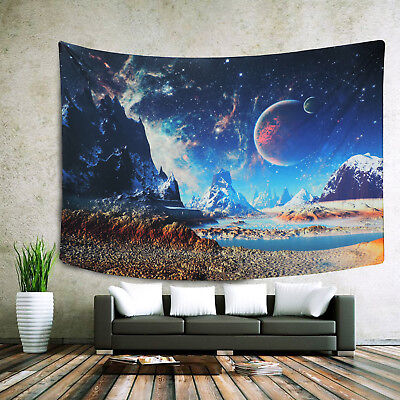 Psychedelic Galaxy Planet Tapestry Wall Hanging Tapestry Home Decor Bedspread