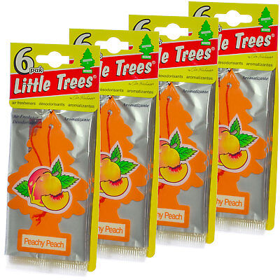 Little Trees Cardboard Hanging Car, Home & Office Air Freshener, Peachy - Cardboard Trees