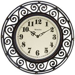 Westclox 32021A Wrought Iron Style Round Wall Clock, 12
