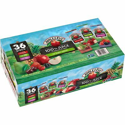 - Apple & Eve 100% Juice Variety Non-GMO Healthy Fruits Drink Bulk 36CtX6.75=243Oz