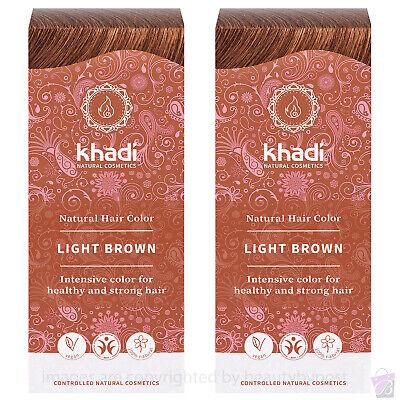 Khadi Herbal Hair Colour Light Brown 100g PACK OF 2