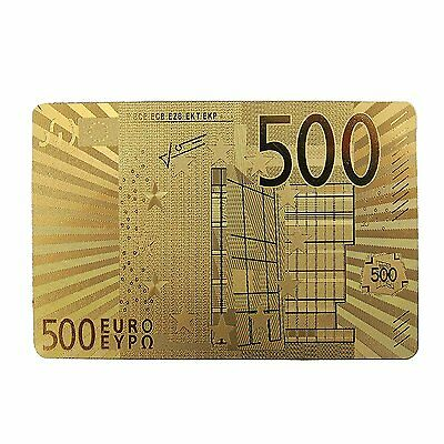500 Euro 24K Gold Plated Playing Cards
