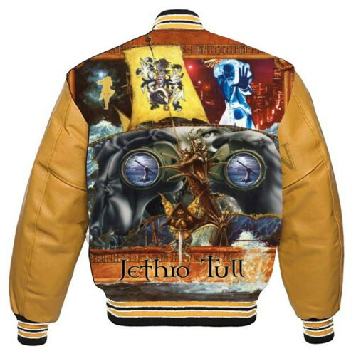 Jethro Tull  Broadsword Stormwatch varsity jacket leather sleeves  Free  CD set