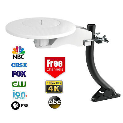 360° Reception Omni-directional Amplified Indoor/Outdoor HDTV Antenna Up 70Mile
