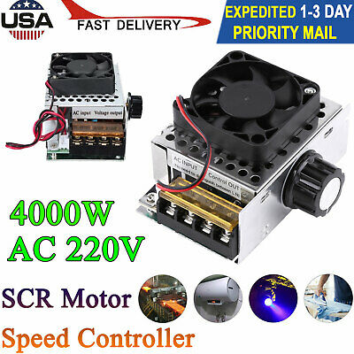 Ac 220v 4000w Scr Motor Speed Controller Module Voltage Regulator Dimmer W Fan