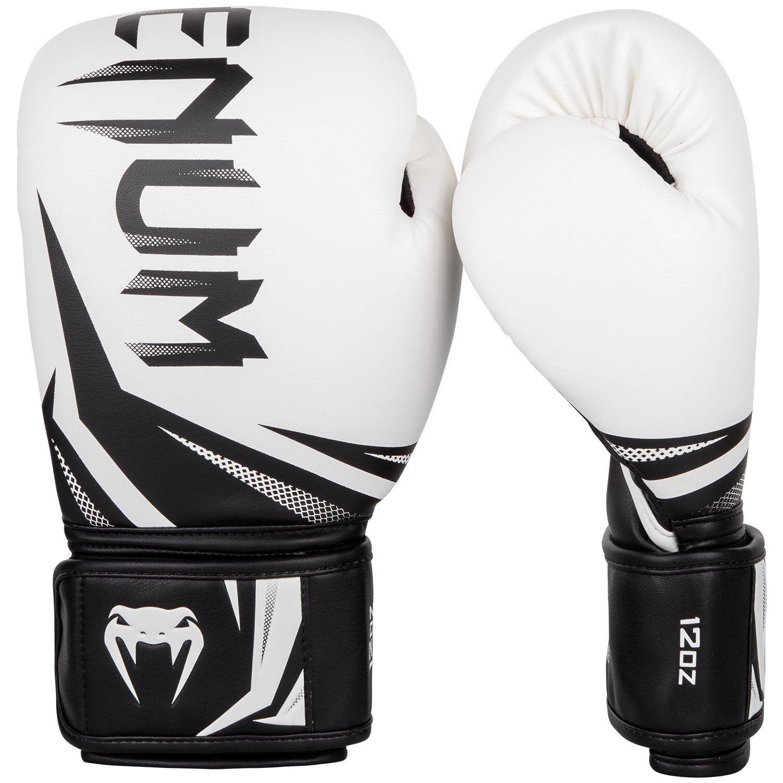 Venum Boxing Gloves Challenger 3.0 White Black Gold Muay Thai Kickboxing Sparrin