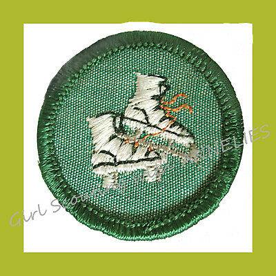 SKATER EUC Junior Girl Scout Badge 1963 Patch Ice Roller Skating VOLUME (Junior Girl)