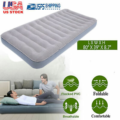 Camping Mattress Air Sleeping Inflatable Airbed Quickbed Single W/ Electric Pump Airbed Air Mattress