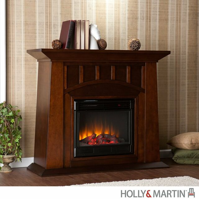 Southern Enterprises Lowery Electric Fireplace in Espresso Finish ...
