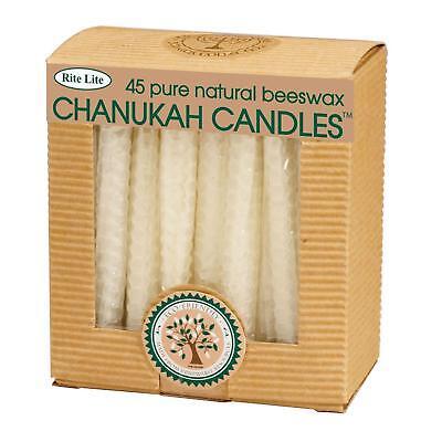 (Rite Lite 45ct Eco-Friendly Natural Beeswax Chanukah Hanukkah Menorah Candles 4