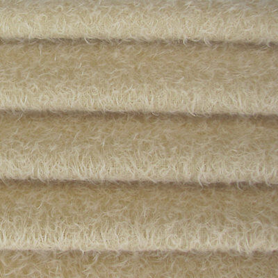 """1/6 yd 300S/CM Cream INTERCAL 1/2"""" Ultra-Sparse Curly Matted Mohair Fur Fabric"""