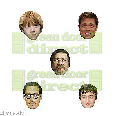 Film Star Celebrity Face Masks Stag Do Hen Night Fancy Dress Party Free Shipping