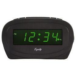 30226 Equity by La Crosse Electric 0.6 Green LED Display Digital Alarm Clock