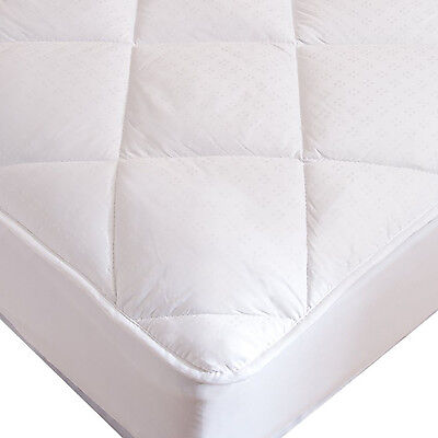 Luxury Deep Pocket Mattress Pad Overfilled Down Alternative
