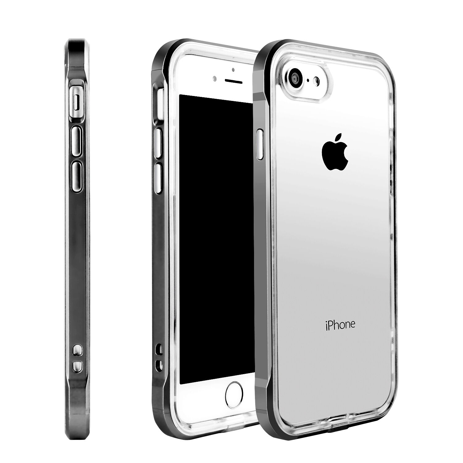 Hybrid Clear Back Shockproof Case Cover for Apple iPhone 6 7 8 Plus