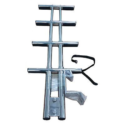 Stainless Steel Sport Dive Ladder / Boat Marine Dual Vertical Telescoping 4 Step