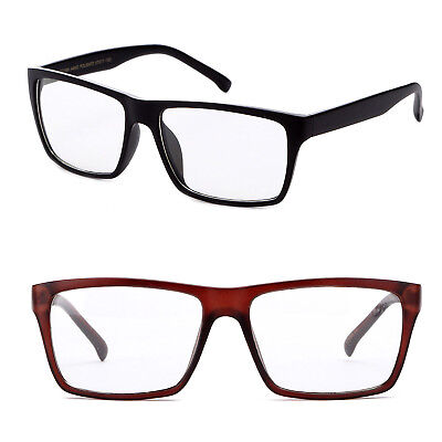 Nerdy Clear Lens Glasses Big Lens Geek Over Sized Fashion Clear Glasses (Big Nerdy Glasses)