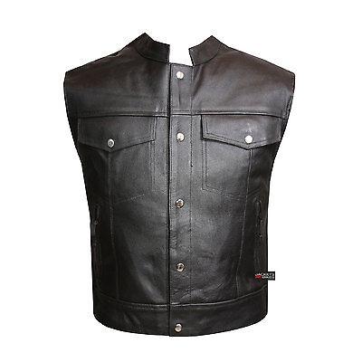 Motorcycle Sons Of Anarchy Biker Five Pockets Soa Vest Inside Gun Pocket