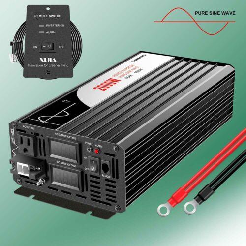 remote controller Pure Sine Wave power Inverter 2000W 12V 24V 48V to 120V