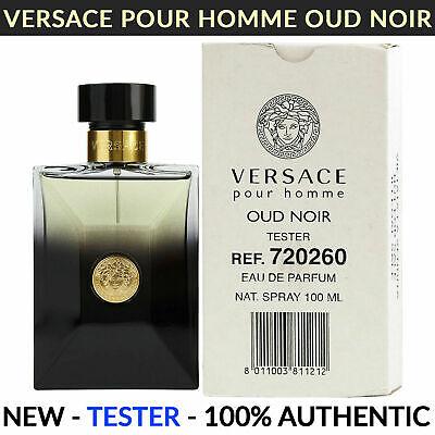 Versace Pour Homme Oud Noir Eau de Parfum for Men 3.4 oz NEW TESTER