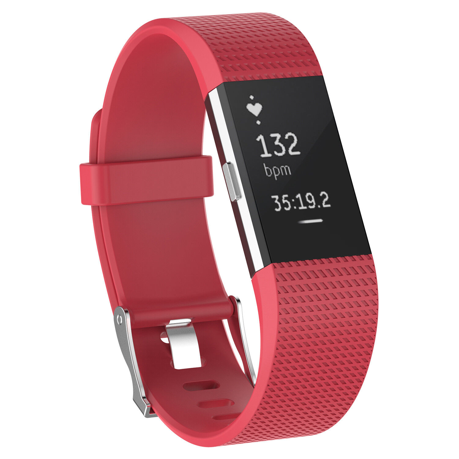 For Fitbit Charge 2 /  2 HR Replacement Silicone Bracelet Watch Band Red
