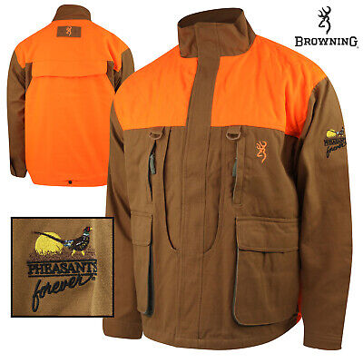 1c5ac89596d48 Browning Pheasants Forever Embr. Upland Canvas Jkt (2X)- Tan/Blaze