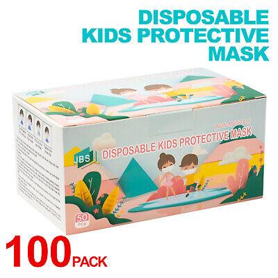 Kids Cartoon Face Mask Toddler Child Masks Disposable 3 layers mask 100 PCS