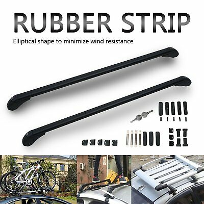 43'' Roof Rack Cross Bars Kayak Ski Snowboard Carrier for 4 or 5 Door Cars