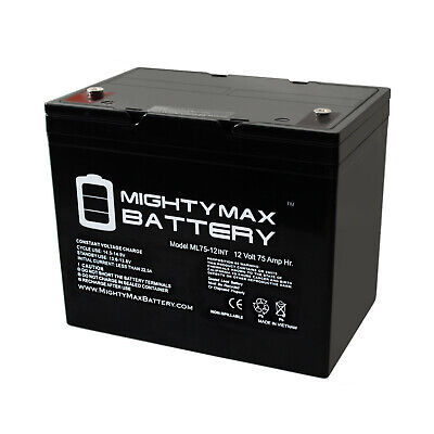 Used, Mighty Max 12V 75Ah Internal Thread Replacement Battery for Quickie P222SE for sale  USA