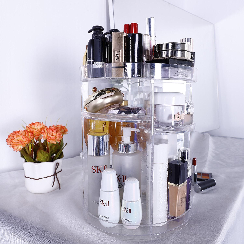 360 degree rotating makeup cosmetic rack holder