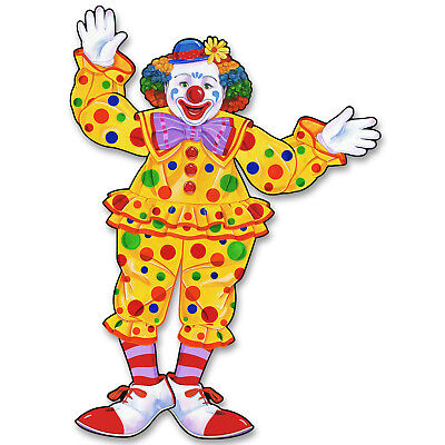 Circus Tent Decorations (CIRCUS Carnival Big Top Tent Party Decoration Prop Jointed CIRCUS CLOWN)