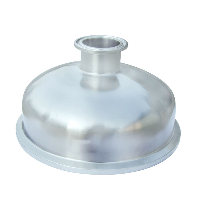 "HFS(R) 1.5"" x 8"" Sanitary Tri Clamp Bowl Reducer- Stainless"