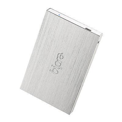 200gb Usb External Hard Drive (Bipra 200GB USB 2.0 NTFS Slim External Hard Drive - Silver (for Windows only) )