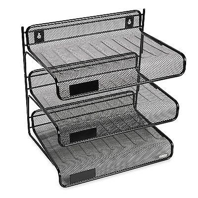 Office Desk Organizer Storage Design Ideas Single Tray Stackable Paper Letter