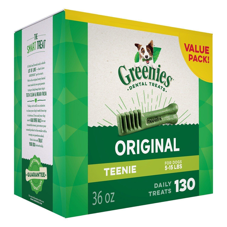 Greenies Dental Dog Treat Size Teenie For Dogs 5-15 Lbs (...
