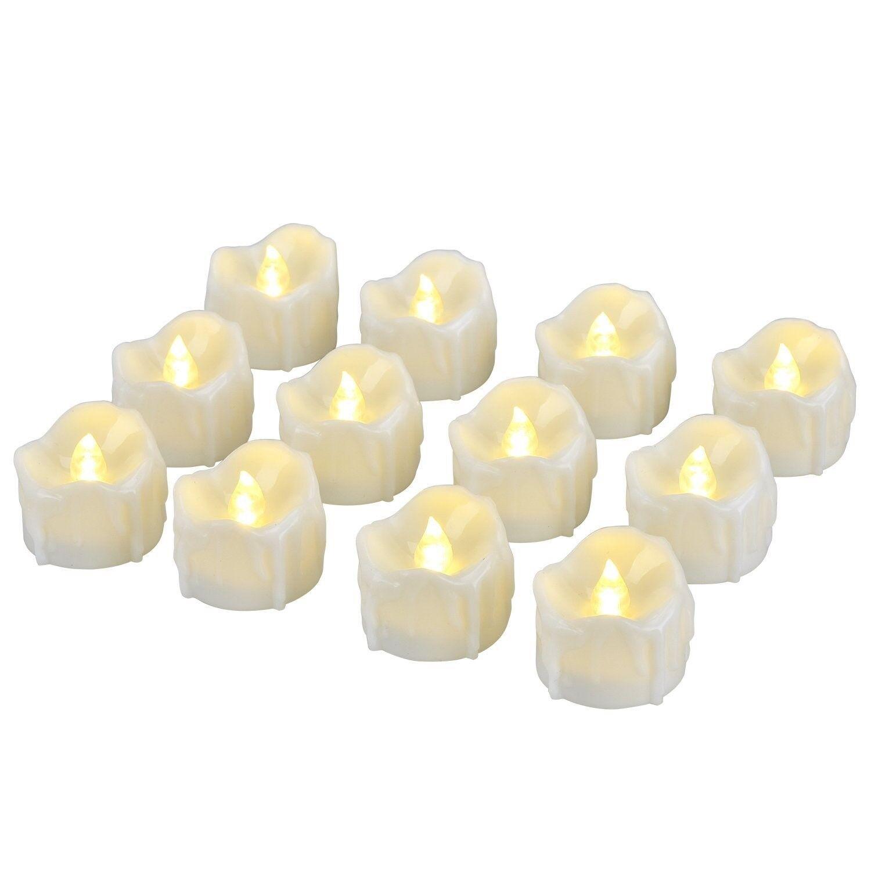 LED Kerzen, Pretop LED Tee Lichter flammenlose Kerzen mit Timer, Automatikmodus