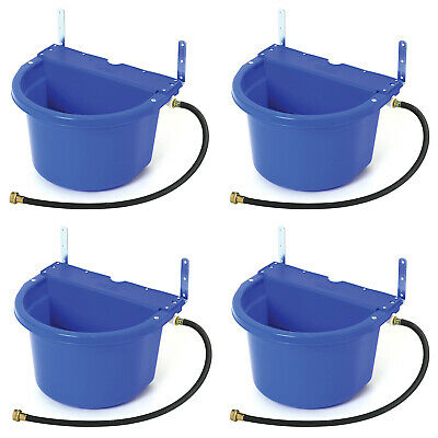 Little Giant 4 Gal Auto Float Controlled Waterer Livestock Water Trough 4 Pack