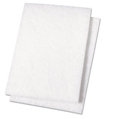 Boardwalk Light Duty Scour Pad White 6 x 9 20/Carton 198 (Pad 198 Light)