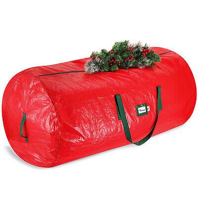 Christmas Tree Storage Bag For Up to 7.5ft Artificial Tree With Handles, Red Artificial Tree Storage Bag