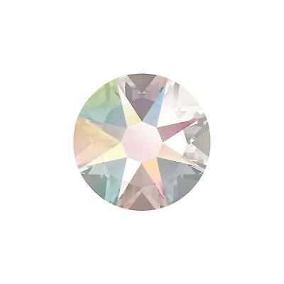 2058 Crystal (2058 2088 Crystal Clear AB Swarovski Flatback Crystals Non Hot Fix - Pack of 50)