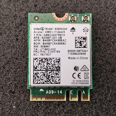 Intel Wireless AC 9260 + Bluetooth 5.0 ; WLAN M.2 2230 Wifi Card Adapter