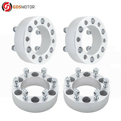 """4pc 2"""" 6x5.5 Wheel Spacer Adapters 12x1.5 Studs Chevrolet Colorado 2004-2012"""