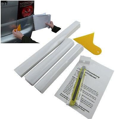 Komplettes Lackschutz Folie Auto Wrap Set Klar Transparent inkl. Messer Rakel