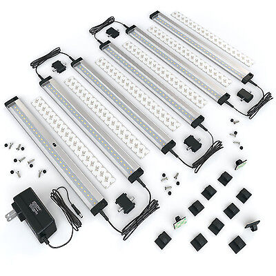 EShine 6 Panels 12 inch LED Dimmable Under Cabinet Lighting Kit - Cool (12 Inch Under Cabinet)